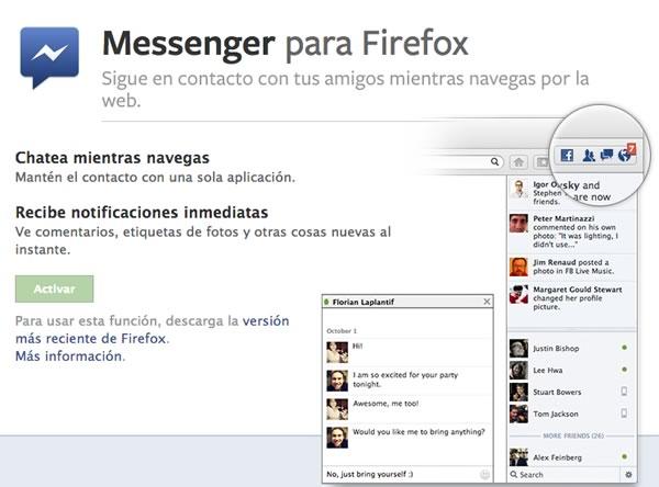 Facebook Messenger para Firefox - messenger-facebook-firefox