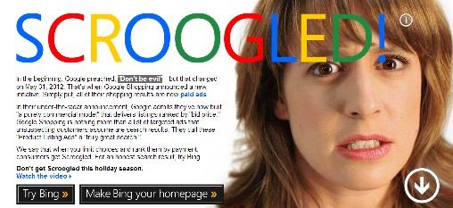 """No sea """"Scroogled"""", Bing advierte a los compradores - scroogled"""