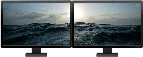 Temas de Windows 8 optimizados para dos monitores - temas-windows-8-mar-olas