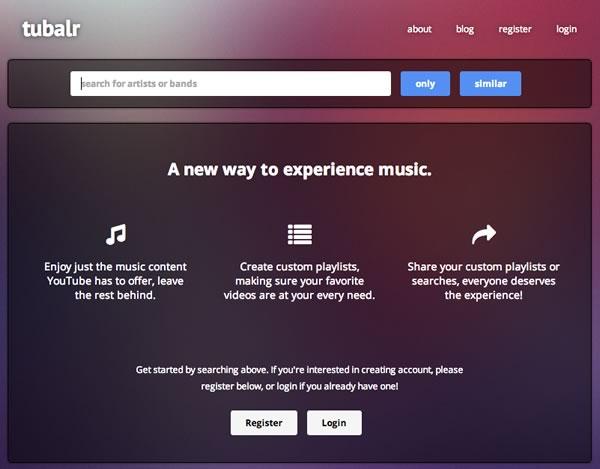 Ver videos de música sin distracciones con Tubalr  - videos-musica-youtube