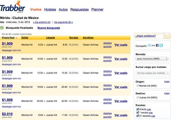 Buscar vuelos baratos en México gracias a Trabber.mx - vuelos-baratos-mexico