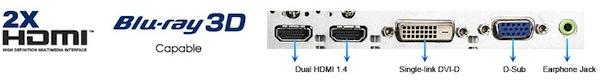 Monitor 3D ASUS VG23AH, una de las mejores pantallas con 3D [Reseña] - Conectividad-Monitor-Asus