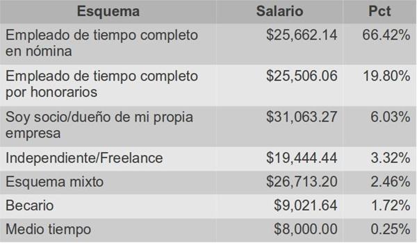 ¿Cuánto debería ganar un profesionista de desarrollo de software? - esquema-empleos-ti-2012