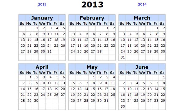 Calendarios 2013 para imprimir - printable-calendar-2013