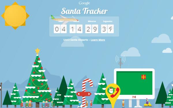 Google nos permite seguir de nuevo la ruta de Santa Claus en esta Navidad - santa-tracker