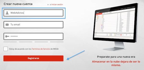 Cómo crear una cuenta gratuita en Mega - Crear-cuenta-mega-2