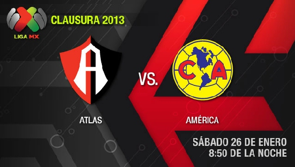 atlas america en vivo clausura 2013 Atlas vs América en vivo, Clausura 2013 (Liga MX)