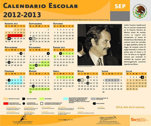 calendario SEP 2013 Calendario SEP 2013