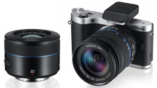 Samsung presenta el primer lente en el mundo con sistema 3D - samsung-nx300