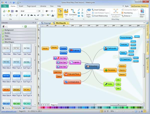 Crear mapas mentales con Edraw Mind Map para Windows - Crear-mapas-mentales-windows