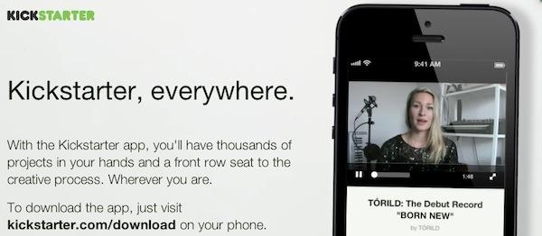 Kickstarter lanza su aplicación oficial para iPhone - Kickstarted-iPhone