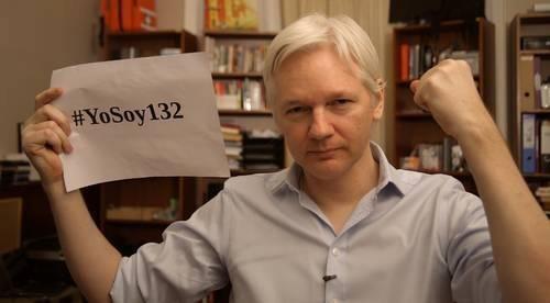 Julian Assange manifestó su apoyo al movimiento mexicano #YoSoy132 - assange-yosoy132