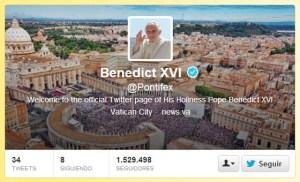 La renuncia de Benedicto XVI y la reacción en Twitter
