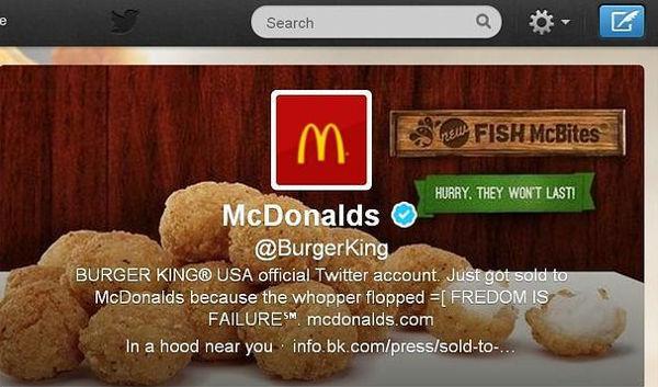 La cuenta de Twitter de Burger King ha sido hackeada - cuenta-de-twitter-de-burger-king-hackeada