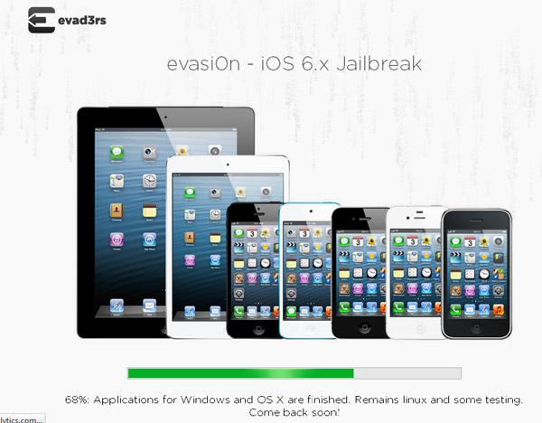 Apple actualizó iOS a 6.1.2 y ahora Evasi0n lanza el respectivo Jailbreak - evasion-jailbreak