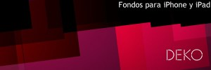 Fondos para iPhone y iPad abstractos con Deko