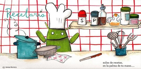 MobRecipes, cocina en comunidad - recetario-android-600x293