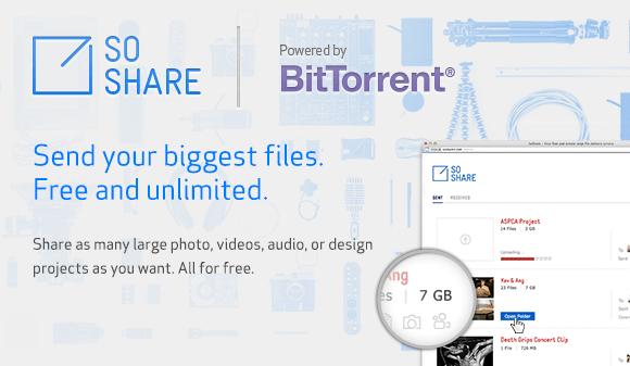 BitTorrent presenta la beta de SoShare, servicio para compartir archivos de hasta 1TB - soshare