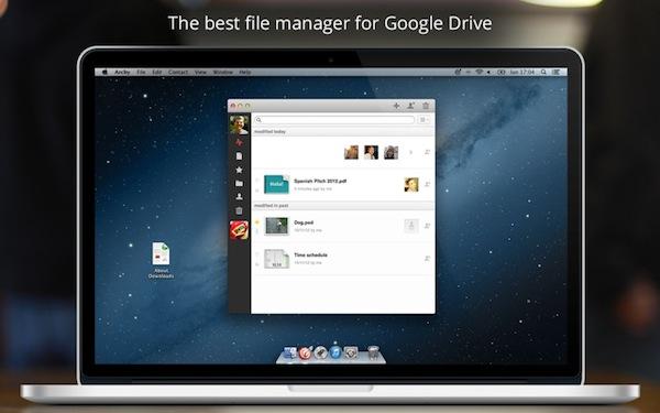 Archy, una aplicación para gestionar Google Drive en Mac - Archy