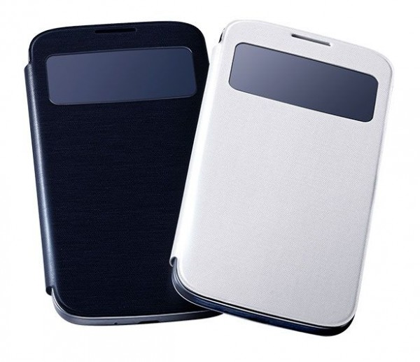 Accesorios oficiales para Samsung Galaxy S IV - Samsung-S-View-Cover-600x517