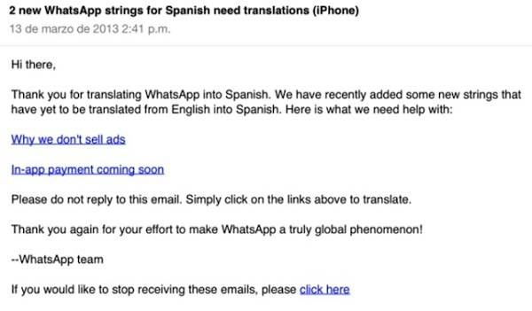 WhatsApp para iPhone podría cobrar suscripciones como a los usuarios de Android - correo_whatsapp
