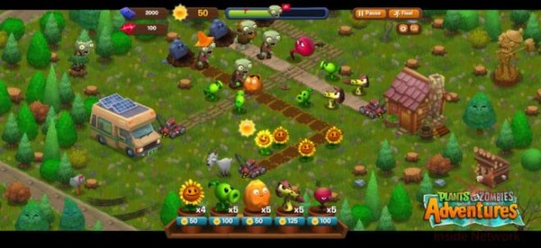 Plantas vs Zombies disponible desde Facebook - pvz_adventures-600x275