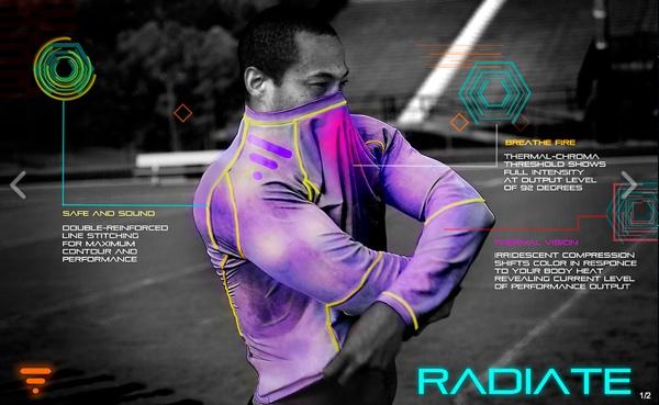 Radiate Athletics, las playeras deportivas que cambian de color de acuerdo a tu desempeño - radiate-athletics