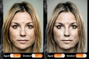 Descubre como se vería tu cara en unos años si fueses fumador