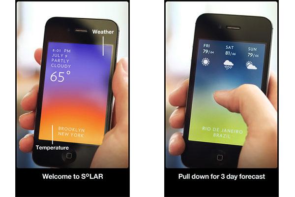 Solar, una aplicación diferente para consultar el clima en iOS - Solar-iOS