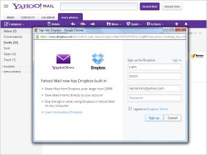 Yahoo! Mail ahora permite soporte para archivos de Dropbox
