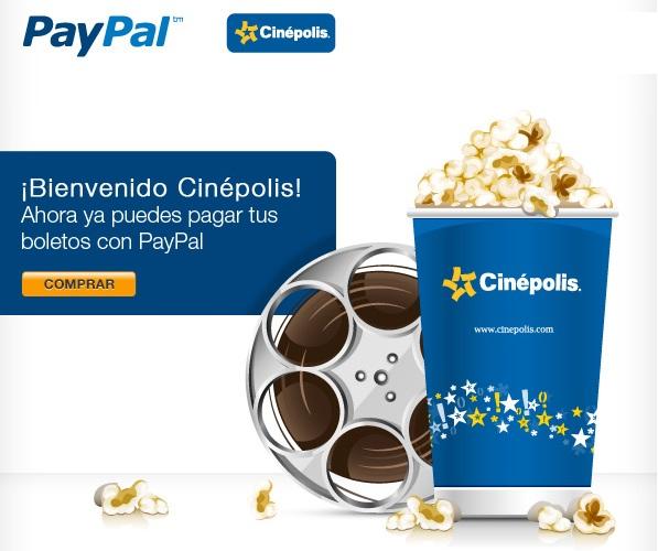 Cinépolis ya acepta pagos con PayPal - paypal-cinepolis