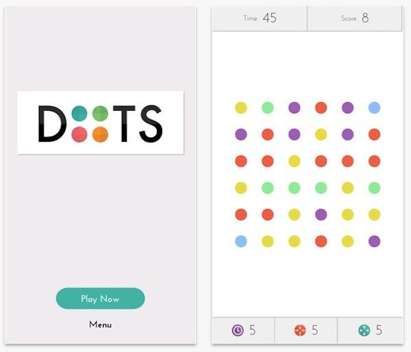 Dots Dots, un nuevo juego adictivo para iPhone