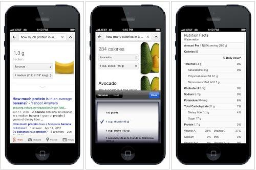 Google Now ahora ofrece información nutricional - Google-Now-informacion-nutricional