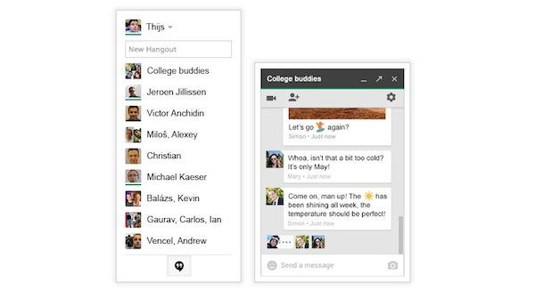 Nuevos Hangouts llegan a Gmail de forma nativa - Hangouts-Gmail