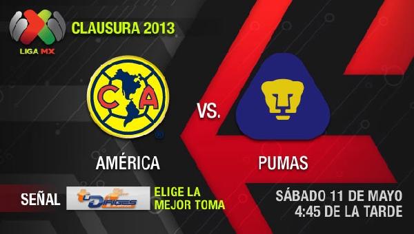 Ver América vs Pumas en vivo por Televisa, Cuartos de Final (Liga MX) - america-pumas-en-vivo-semifinal-clausura-2013