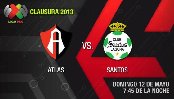 Ver Atlas vs Santos en vivo por Televisa, Cuartos de Final (Liga MX) - atlas-santos-en-vivo-clausura-2013-semifinal