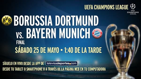 Bayern Munich vs Borussia Dortmund en vivo [Final Champions League] - bayern-vs-borussia-en-vivo