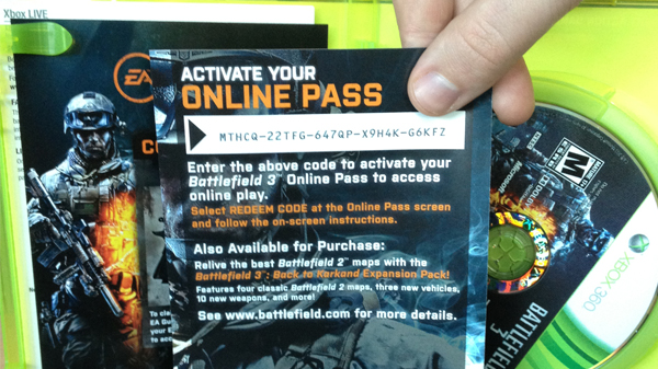 Electronic Arts dejará el Online Pass para sus futuros títulos - onlinepass_1_large