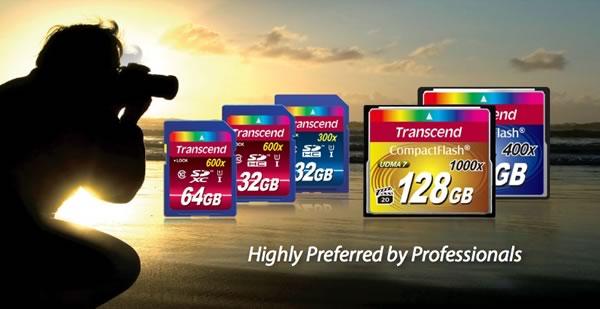 Memoria CompactFlash 1000x de Transcend, ideal para fotógrafos profesionales y cineastas que usan los DSLR's - trascend-cf1000x