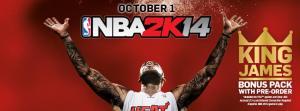 LeBron James estará en la portada de NBA 2K14