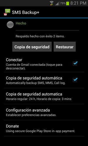 Respalda tus mensajes SMS, MMS y WhatsApp en Android con SMS Backup+ - sms-backup+