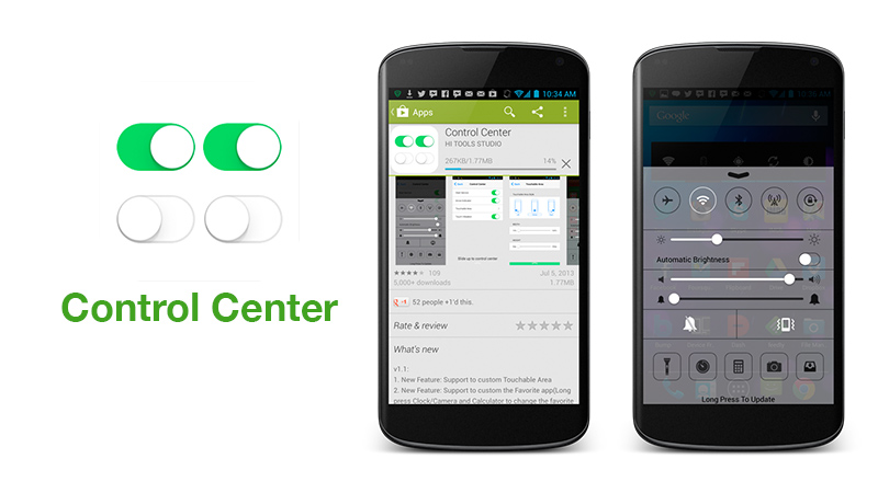 Instalar el nuevo Centro de control de iOS 7 en Android con Control Center - Control-center-android