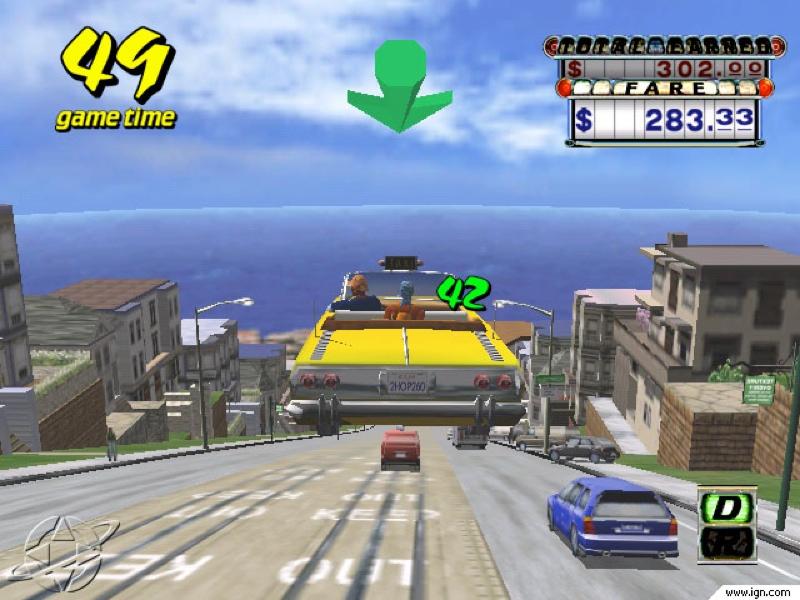 Los 10 mejores videojuegos de carreras - Crazy_Taxi