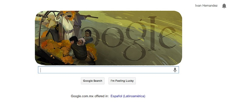 Google celebra el 126º aniversario de Saturnino Herrán con un Doodle - Saturnino-Herran-Doodle