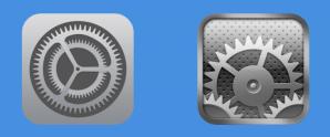 Iconos de iOS 7 comparados con los de iOS 6 en un sitio