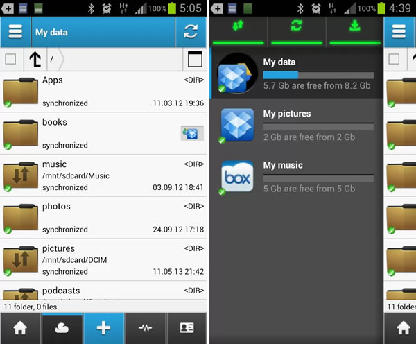 cloudcube Administra Dropbox, Google Drive y demás servicios de almacenamiento desde tu Android con CloudCube