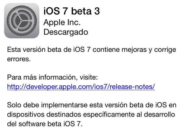 iOS 7 beta 3 ya disponible para descargar - ios-beta-3