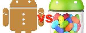 Jelly Bean por fin supera a Gingerbread en el uso de dispositivos móviles con Android