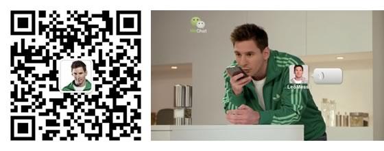 WeChat supera los 70 millones de usuarios y lo celebra con Lionel Messi - messi-wechat