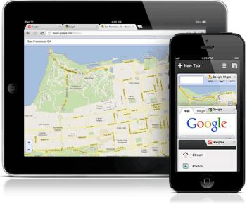 Chrome para iOS se actualiza con integración para otras apps de Google